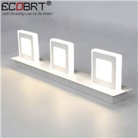 Modern 9W White Led Wall Lamps in Bathroom Wall Mounted 3-lights Over Mirror Lights 48cm Long AC220V/110V