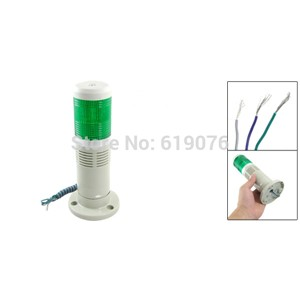 Light Industrial Warning Lamp Alarm Apparatus Buzzer Green Signal Tower DC24V 12V