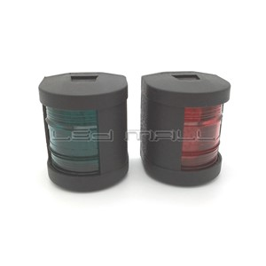 Marine Boat Yacht 1Nautical Mile LED Navigation Lights / Red&Green LED Port & Starboard Sidelight - One Pair