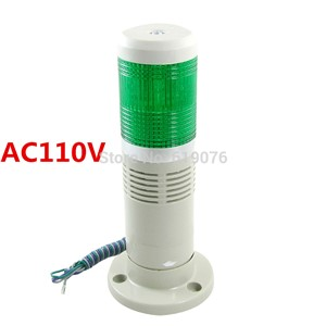 AC110V steady  LED light with buzzer sound Green Signal Tower Light Industrial Warning Lamp