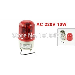 LTE-1101 AC 220V AC110V DC12V DC24V 10W Dome Case Industrial Rotary Signal Light Lamp Red LTE-1101