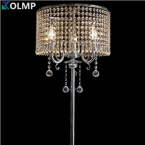 luxury fashion brief romantic bedside k9 crystal floor lamp for living room modern standing lamp home deoc