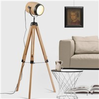 Modern Creative Nordic Hand Crafted Original Wood Iron Led E14 Floor Lamp For Living Room Bedroom Photo Studio 80-265v 2033