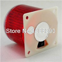 (1)Red Solar Flasher LED Warning Beacon Light Operated  Water Proof Marine Boat