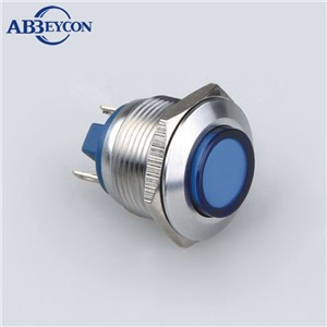 ABBEYCON high flush head 19mm metal waterproof vandal resistant pilot light signal lamp indicator IP67