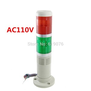 AC110V Red Green Signal Industrial Tower Lamp Warning Stack Light with Buzzer Alarm Apparatus