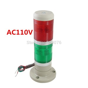 AC110V 2layrer red green Signal Industrial Tower Warning Lamp Stack Light Alarm Apparatus