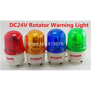 DC24V Red Yellow Green Blue Rotating Beacon Warning Light Lamp Spiral Fixed LTE-1101