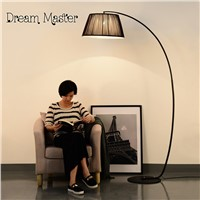 American country floor lamp modern bedroom  living room study  vertical lamp Nordic fabric sofa  fabric lamp Postage free