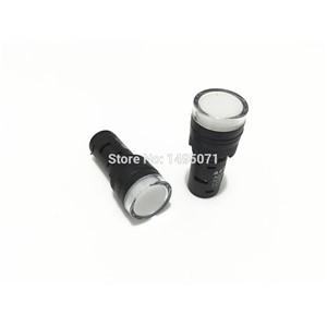 20pcs AC/DC 110V 16mm Mount Size White LED Power Indicator Signal Light Pilot Lamp AD16-16C
