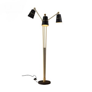 Nordic three heads floor lights adjustable living room bedroom modern creativity personality black / white floor lamps ZA FG973