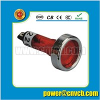 ZS60 12mm Dia metal ring red button 6-24v voltage can be custom-made pilot light 24v indicator lamp