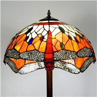 Hot sale Tiffany floor lamp retro interior lighting decorative lamp 1.4M color glass floor lamps