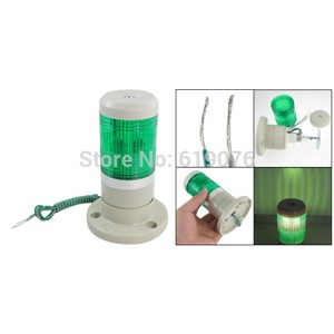 LED  Steady Single green color warning lamp  single layer alarm lamp