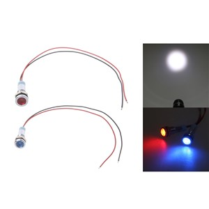 "6mm 1/4"" 24V LED Metal Indicator Pilot Custom Dash Light Lamp with Wire  T15"