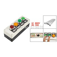 Yellow Signal Light Momentary Self Locking Push Button Station