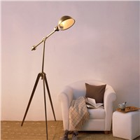 Vintage Art style Minimalist Floor Lamp gold table light Toolery desk Lamp Living room Reading light Iron body LED Floor light