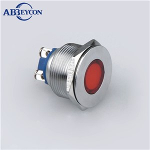 ABBEYCON 12V Metal Indicator Light With High Quality 28mm Waterproof Stainless Steel Pilot Light Screw Terminal 10pcs/lot
