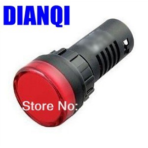 ad16 22 AD16-22 red 380V  LED Power Indicator Signal Light 22mm mounting size led Indicator lamp