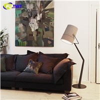 Modern Floor Lamp Italy Designer Standing Floor Light Fixture Living Room Study Fabric Lamshade Floor Lamps