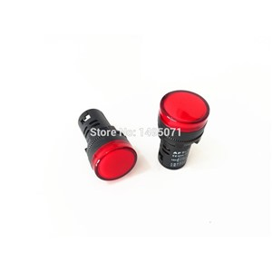 10pcs AC/DC 110V 22mm Mount Size Red LED Power Indicator Signal Light Pilot Lamp AD16-22D/S
