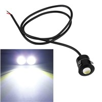 New 9W White Radar Eagle Eye Lights 12V Daytime Running Light Reverse Fog Lamps