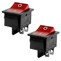 Hot sale16A/250VAC 20A/125VAC Red Indicator Light 4 Pin ON/OFF DPST Rocker Switch 2 Pcs
