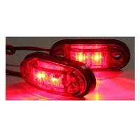4 x LED side marker light truck camper van trailers e11 red