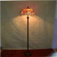 European Tiffany color glass red dragonfly art living room dining room bedroom decorative floor lamp