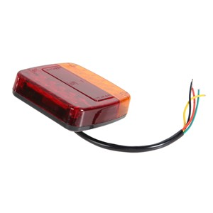 2pcs DC12V Car/Trunk/Van Edge/Trailer LED Warning Light Motor Vehicles License Plate Lighting Lamp Car-styling