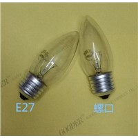 220V25W40W bulb lamp bulb E27 incandescent lamp decorative lamp bulb tip E27
