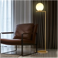 Nordic stand lamp floor lights Modern glass ballpersonality bedroom bedside living room sofa round ball floor lamp