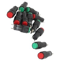 AC 220 V 2 P signaling lamps red green pilot lights bulb indicator 12 pieces
