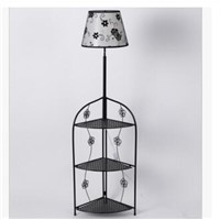 Chinese Hotel Room Bedroom Iron Coffee Table Set LED Cover Cover Bedside Table Floor Lamp TA92919