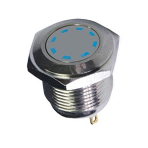 ABBEYCON waterproof copper plated chrome 16mm vandal proof 12VDC multi point indicator led
