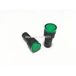 5pcs AC/DC 12V 16mm Mount Size Green LED Power Indicator Signal Light Pilot Lamp AD16-16C