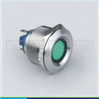 IN51 factory price export 12v 10w metal anti-vandal stainless steel waterproof indicator concave head led signal lamp