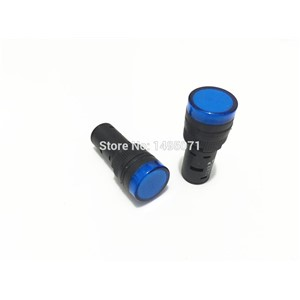 5pcs AC/DC 110V 16mm Mount Blue LED Power Indicator Signal Light Pilot Lamp AD16-16C