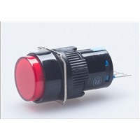 Momentary Round Push Button Switch without lamp 1NO+1NC 16mm Mounting Hole 3Pins