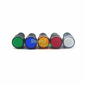 5PCS AC/DC 220V 22mm  Thread LED for Electronic Indicator Signal Light Five color optional ,default red AD16-22