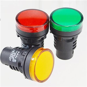 5Pcs/Lot 30mm Yellow AD16-30D/S LED Indicator Lights Signal Pilot Lamp Flashlight Buzzer 12/24/36/220/380V