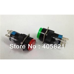 Momentary Round Push Button Switch with lamp 1NO+1NC 16mm Mounting Hole 5Pins