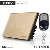 Funry US standard 3 gang remote switch, Intelligent On-off Intelligent Household Control, Intelligent Wall Switch 2017