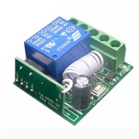 Mayitr DC12V 10A 1 Channel Receiver Wireless Relay RF 433MHz Remote Control Switch DIY Module