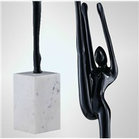 black Ballet floor lamp creative art bedroom study floor light resin living room hotel decorative light ZA90613