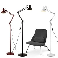 Retro industrial Floor Lamp Light unfoldable arm black silver yellow Creative minimalist Nightstand E27 led lamp Kung