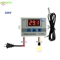220V 12V 24V Digital LED Temperature Controller Thermostat Switch Probe Sens  H02  828 Promotion