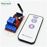 1CH Way 433mhz Learning Code Remote Control Switch AC 110V - 220V Receiver Module+2-key Remote Kit For Light and Door