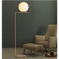 Modern simple glass ball stand lamp floor lamp Nordic personality bedroom bedside living room sofa round ball floor lamp FG412