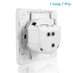 High Quality Funshion Click Switch,1 Gang 1 Way/2 Way, Pressure Switch Push Button Switch Light Wall Switch with LED Indicator